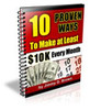 Thumbnail 10 Proven Ways to Make at Least $10K Every Month!